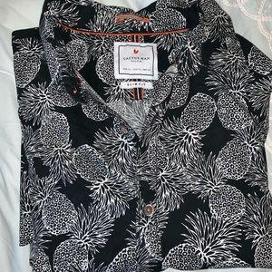 Men's Pineapple print Short sleeve shirt